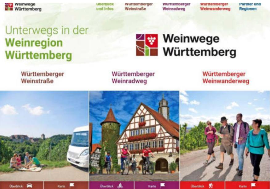 Wer nach passenden Angeboten in der Region sucht, geht am besten auf die Homepage www.weinwege-wuerttemberg.de. Foto: Screenshot