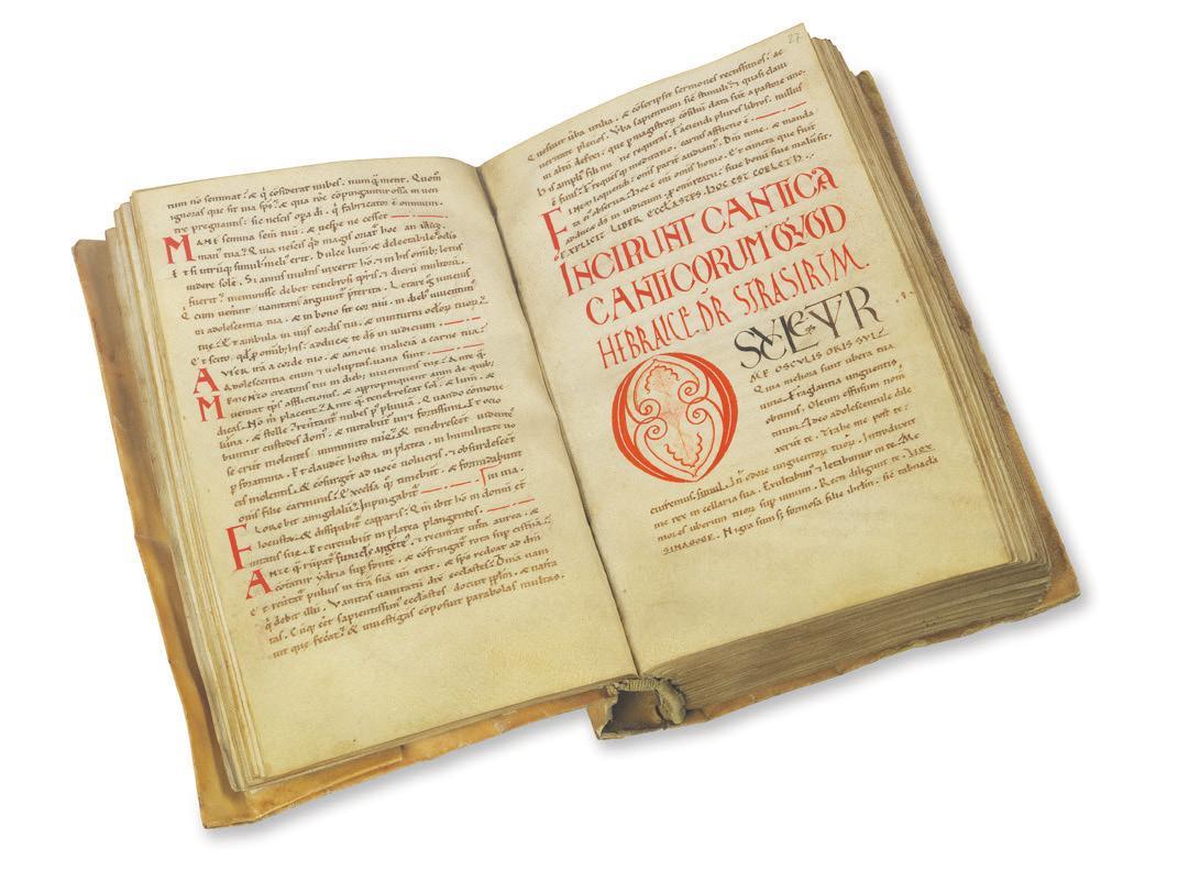 Biblia Latina. Lateinische Handschrift auf Pergament, 12. Jahrhundert. Foto: Ketterer Kunst
