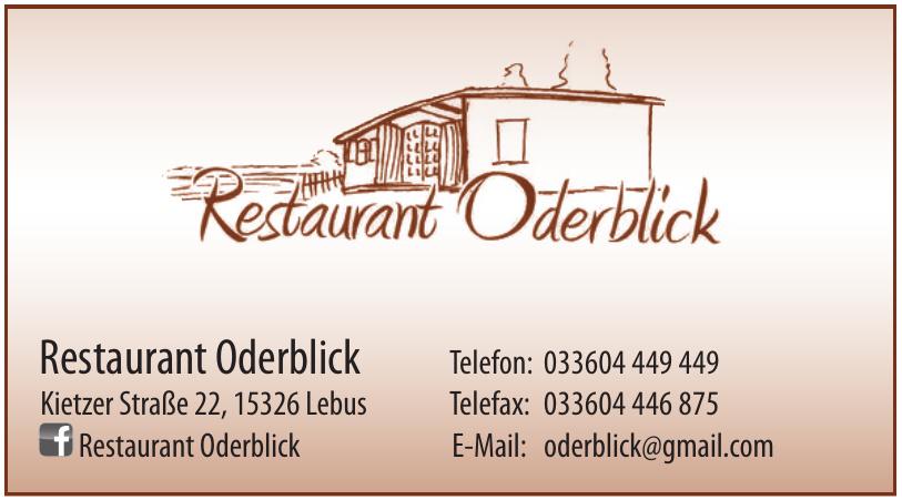Restaurant Oderblick