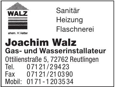 Joachim Walz Gas- und Wasserinstallateur