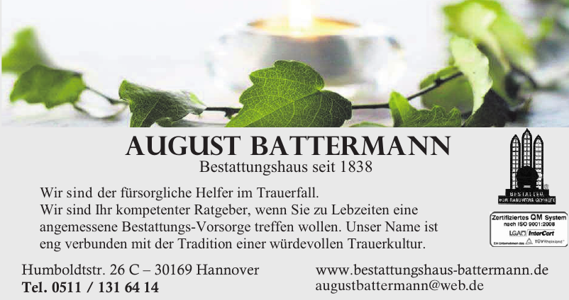 August Battermann Bestattungshaus