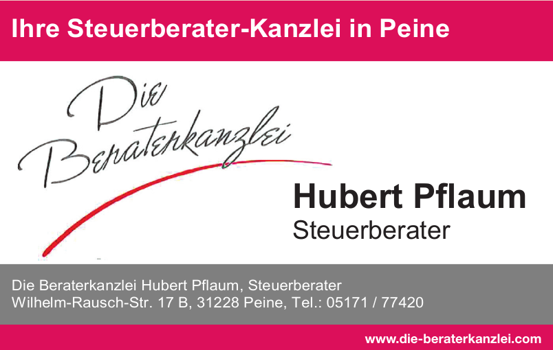 Die Beraterkanzlei Hubert Pflaum, Steuerberater
