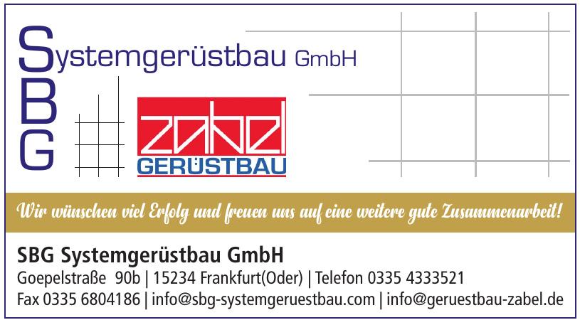 SBG Systemgerüstbau GmbH