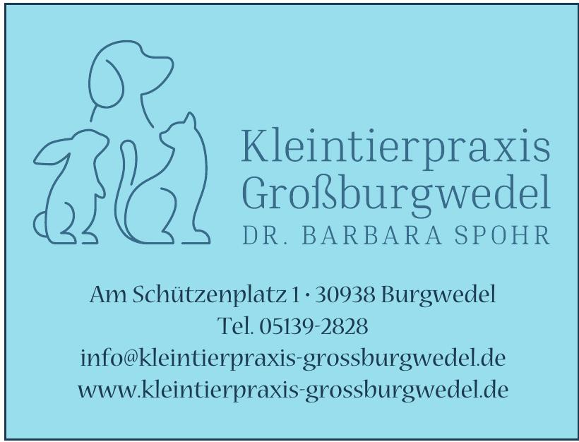 Kleintierpraxis Großburgwedel Dr. Barbara Spohr