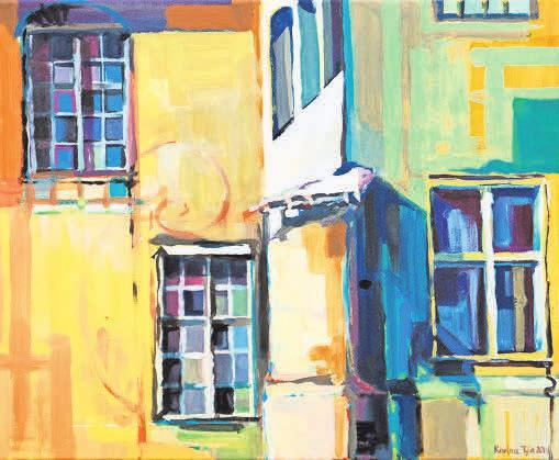 "Arbeit der Künstlerin Karina Tyła aus Gryfino (Polen): ""Fenster"" (Acryl, 2019). Foto: Karina Tyła (Gryfino)"