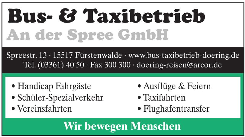 Bus- & Taxibetrieb An der Spree GmbH