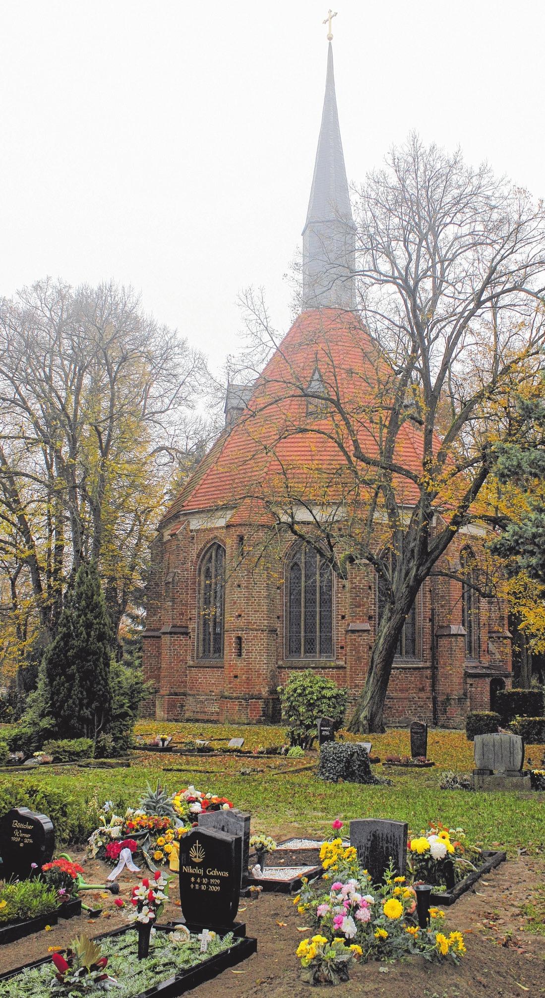 An der Wolgaster Gertrudenkapelle findet am Sonntag um 15.30 Uhr eine Andacht mit Bläsern statt.