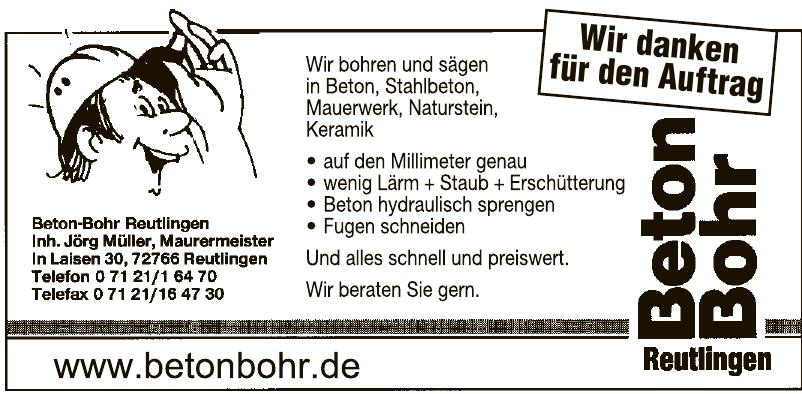 Beton-Bohr Reutlingen