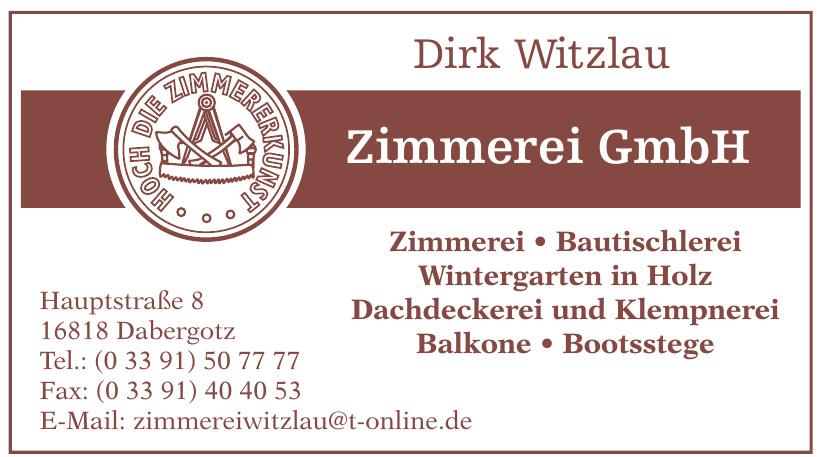 Dirk Witzlau Zimmerei GmbH