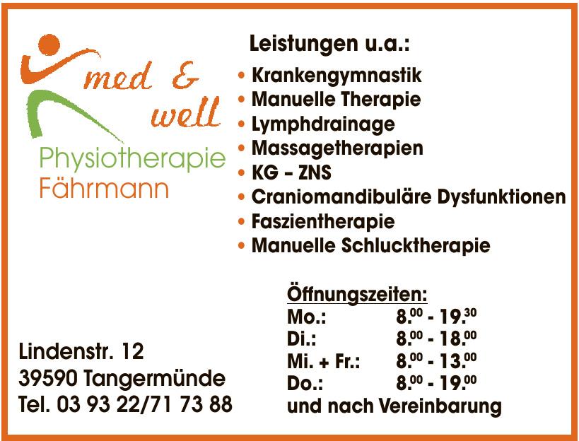 med & well Physiotherapie Fährmann