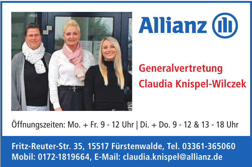 Allianz Generalvertretung Claudia Knispel-Wilczek