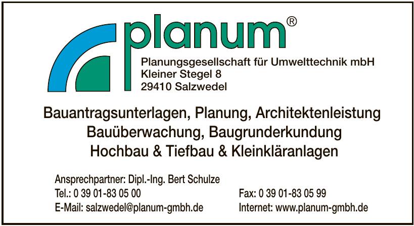 Planum Planungsgesellschaft für Umwelttechnik mbH