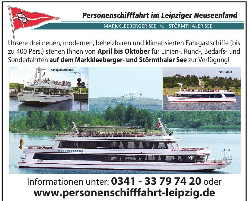 Personenschifffahrt im Leipziger Neuseenland