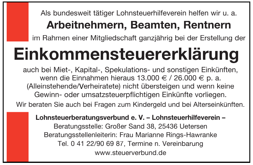 Lohnsteuerberatungsverbund e. V. – Lohnsteuerhilfeverein
