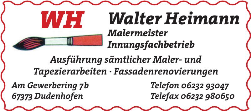Walter Heimann Malermeister Innungsfachbetrieb