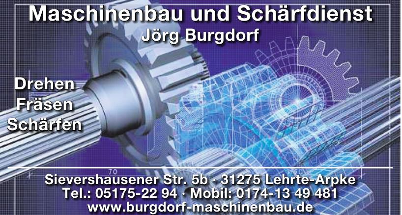 Maschinenbau und Schärfdienst Jörg Burgdorf