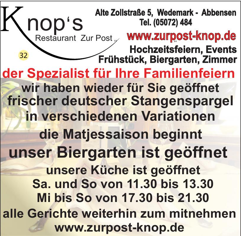 Knop´s Restaurant Zur Post