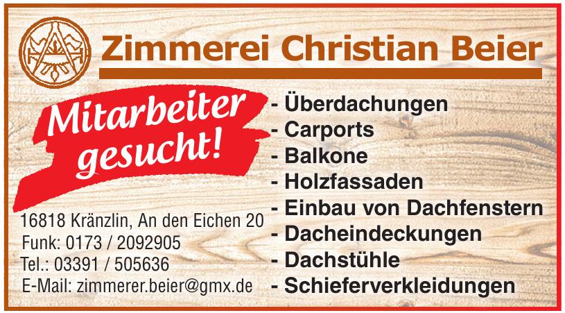 Zimmerei Christian Beier