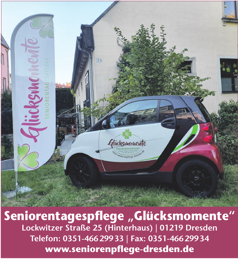"""Seniorentagespflege """"Glücksmomente"""""""