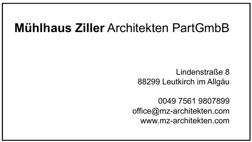 Mühlhaus Ziller Architekten PartGmbB
