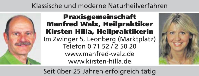 Praxisgemeinschaft Manfred Walz, Heilpraktiker Kirsten Hilla, Heilpraktikerin