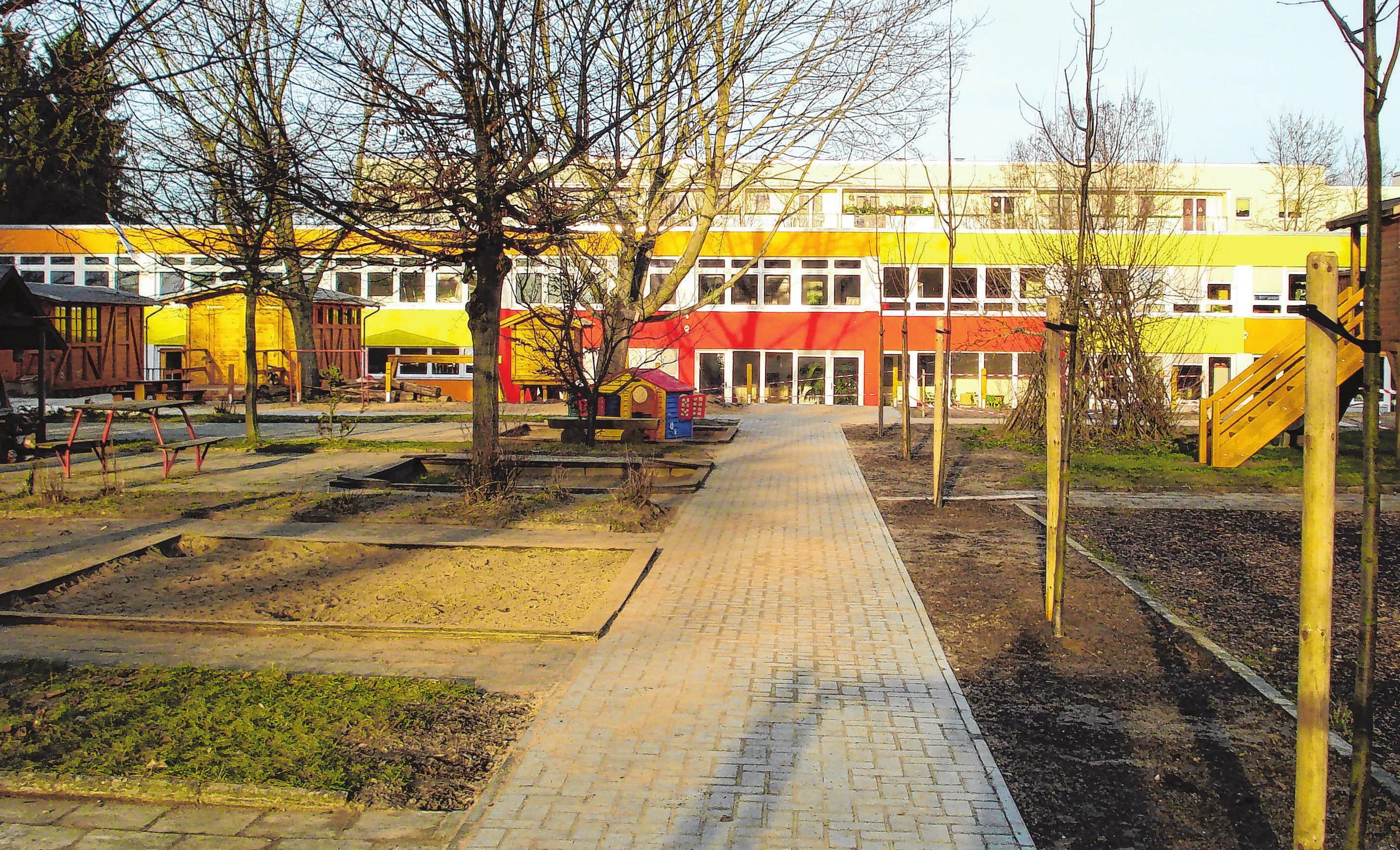 Nach der Sanierung durch das Bauservicecenter: Die Frankfurter Kita Einsteinchen ist ein farbenfrohes Kinderparadies geworden. Fotos: BSC GmbH