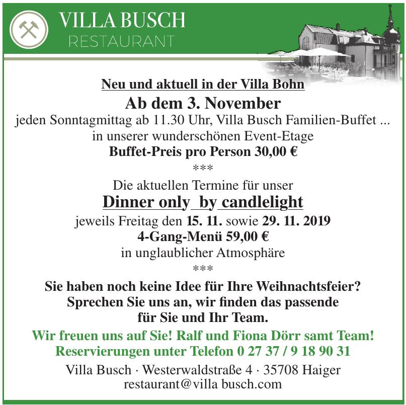 Villa Busch Restaurant