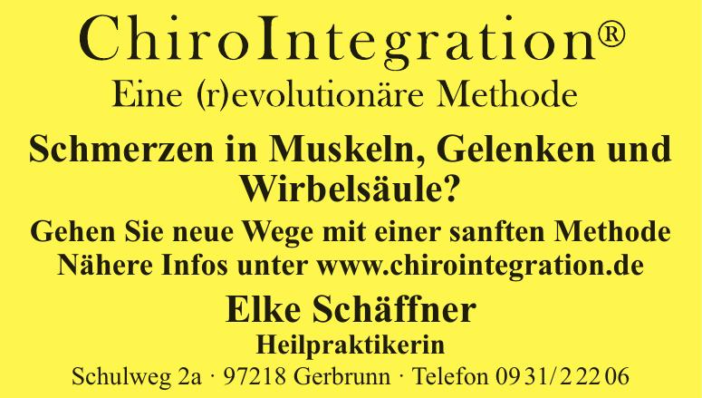 ChiroIntegration Elke Schäffner Heilpraktikerin
