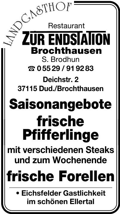 Landgasthof Restaurant Zur Endstation