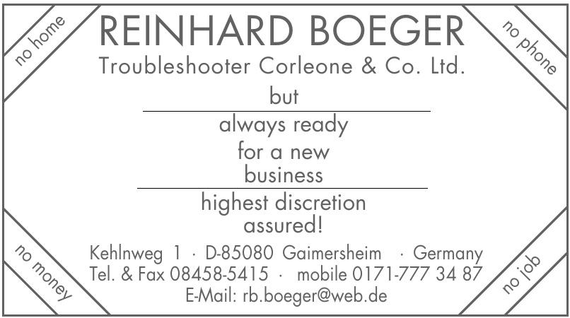 Troubleshooter Corleone & Co. Ltd.