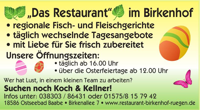 Das Restaurant im Birkenhof