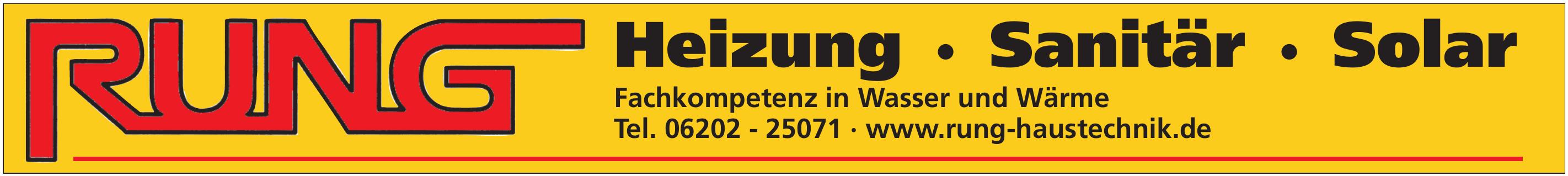 Rung Heizung · Sanitär · Solar