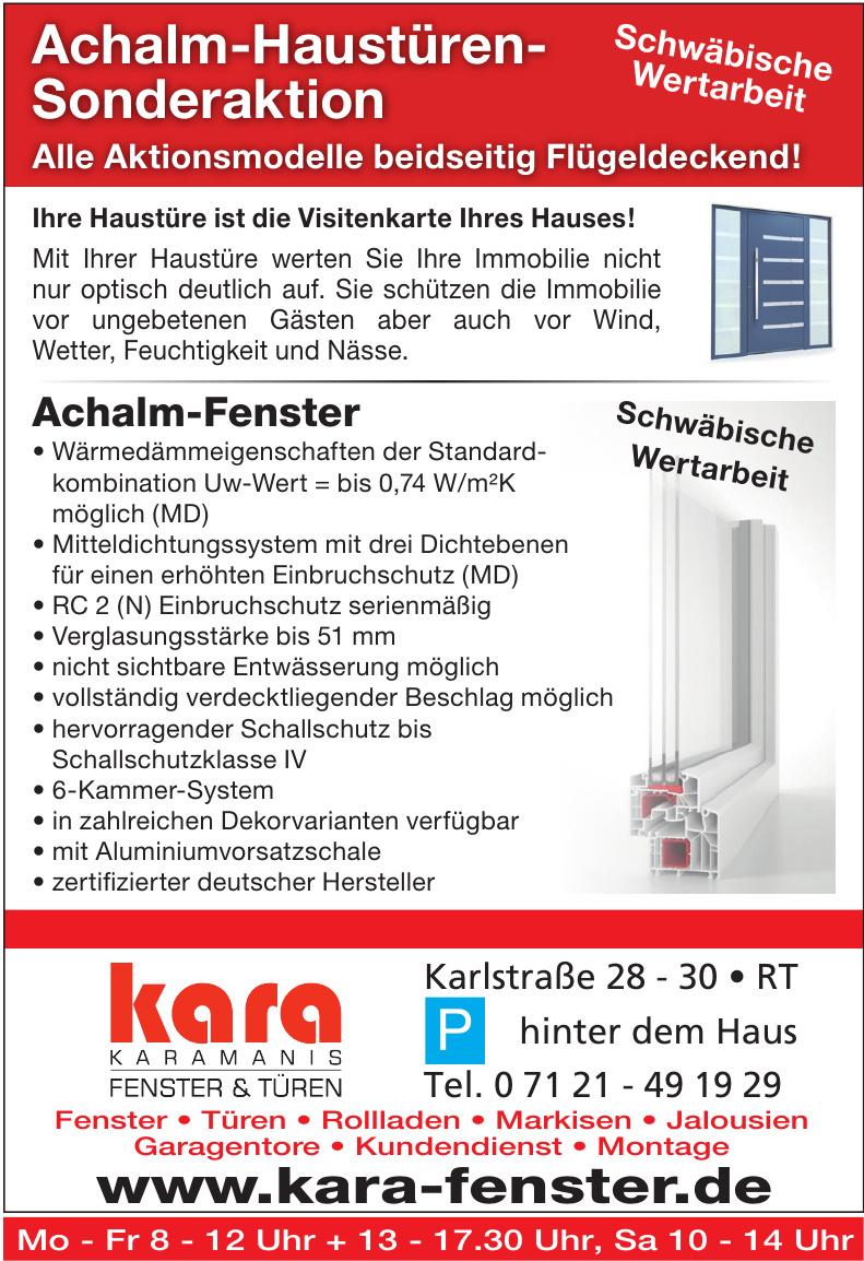 Kara Karamanis Fenster & Türen