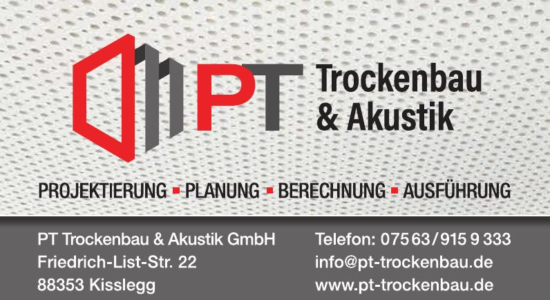 PT Trockenbau & Akkustik GmbH Impressum