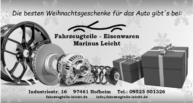 Fahrzeugteile - Eisenwaren Marinus Leicht