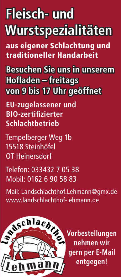 Landschlachthof Lehmann