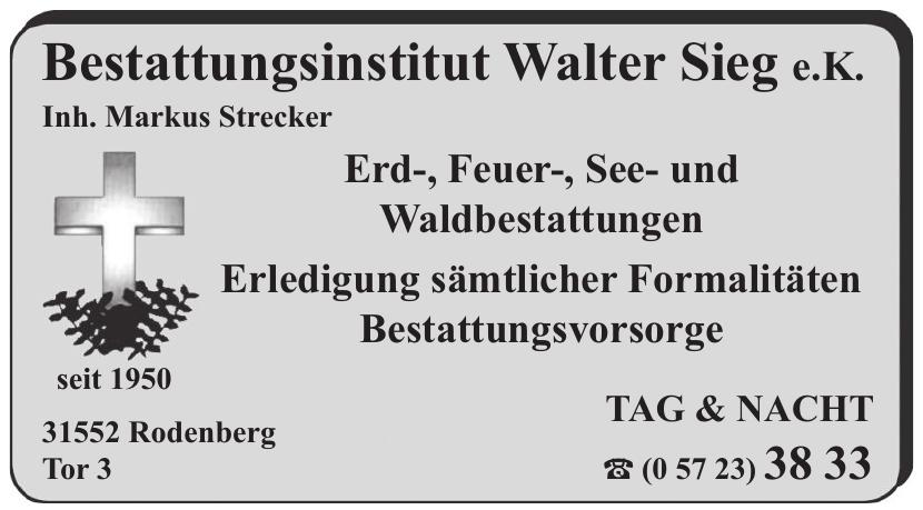 Bestattungsinstitut Walter Sieg e.K.