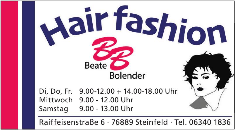 Hair fashion: Beate Bolender