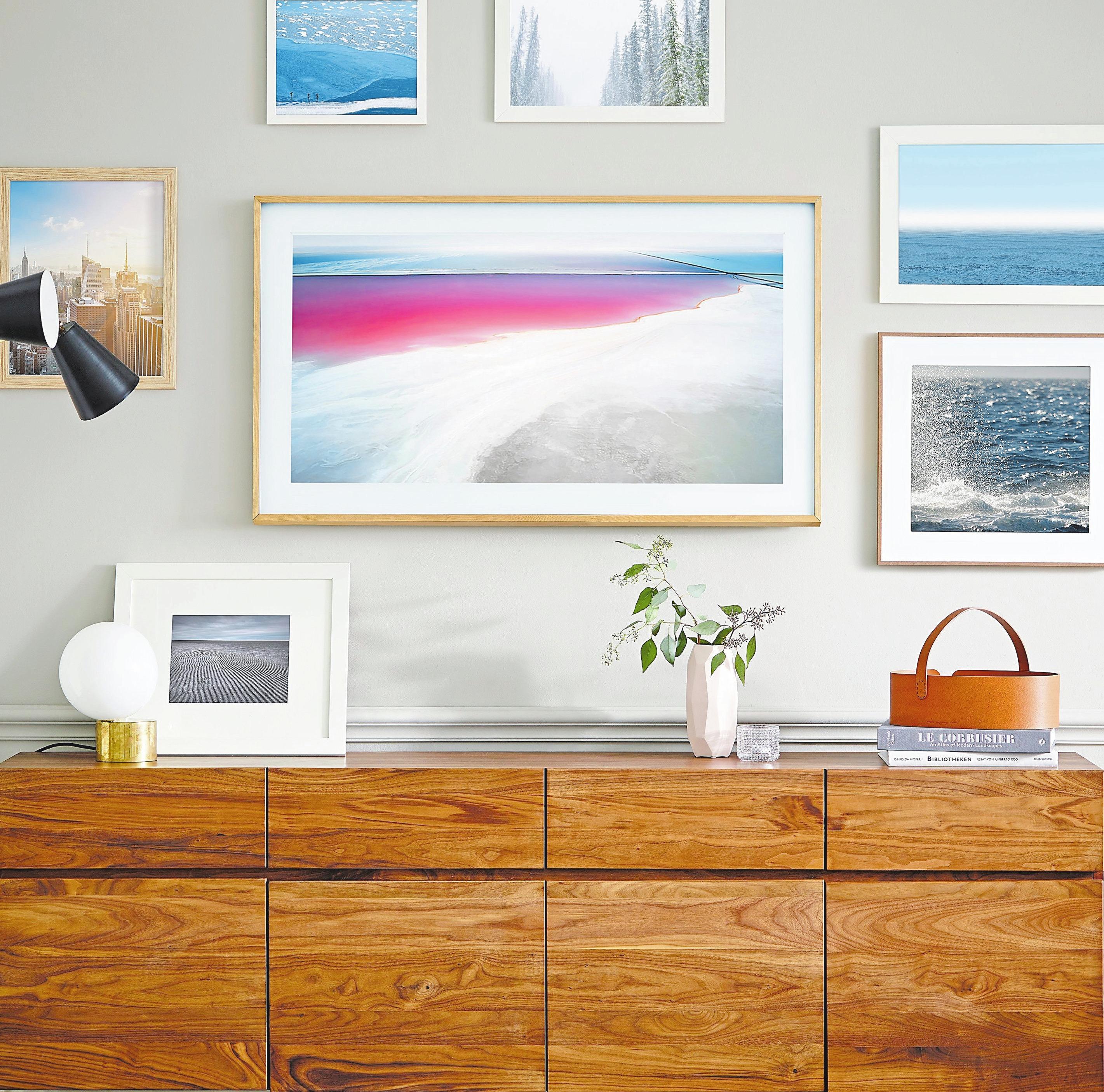 """Mit """"The Frame"""" erhalten Kunden ein Kunstobjekt, mit dem sie zugleich fernsehen können.Foto: Samsung"""