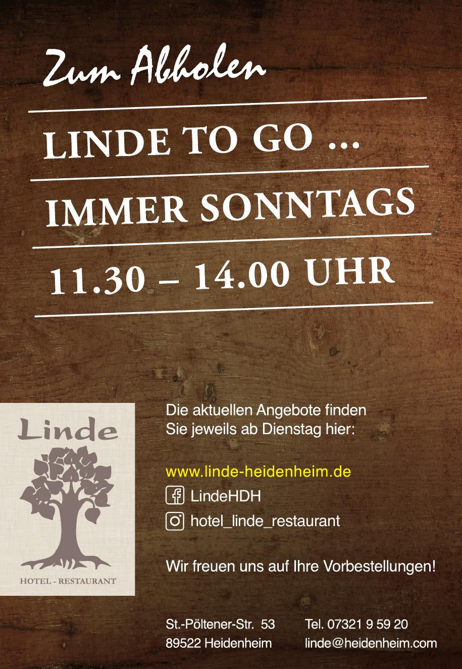 Linde Hotel, Restaurant