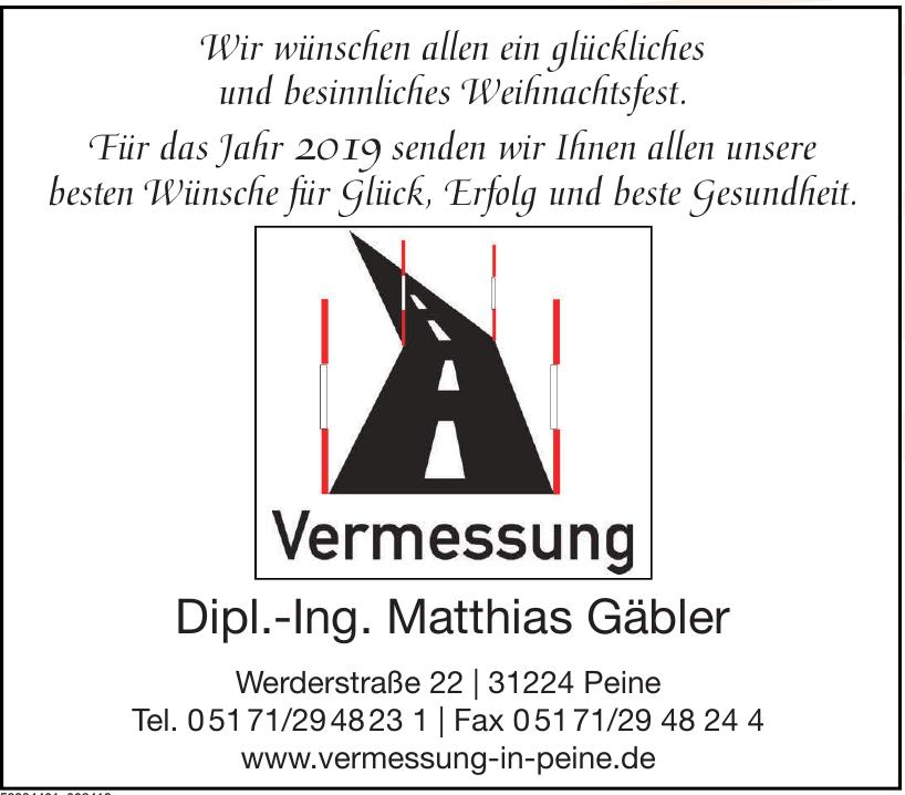Vermessung - Dipl.-Ing. Matthias Gäbler