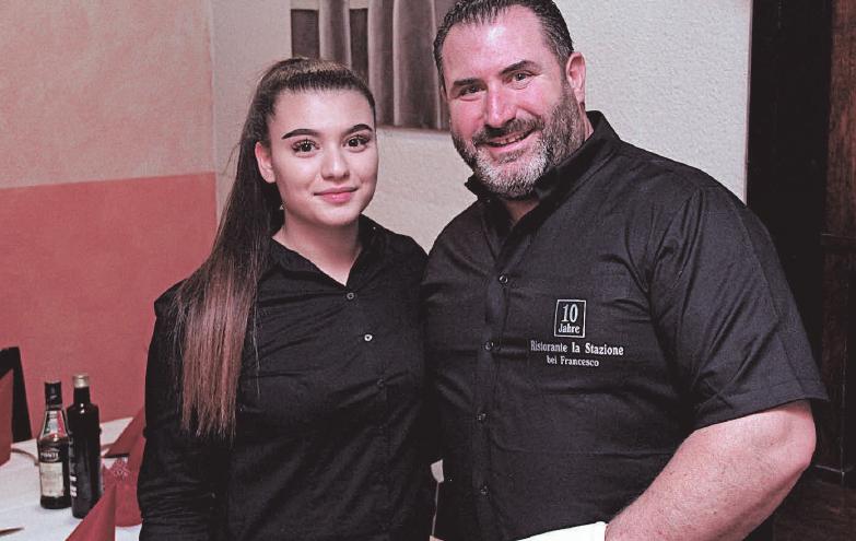 La Stazione Chef Francesco Novello mit Tochter Tiziana