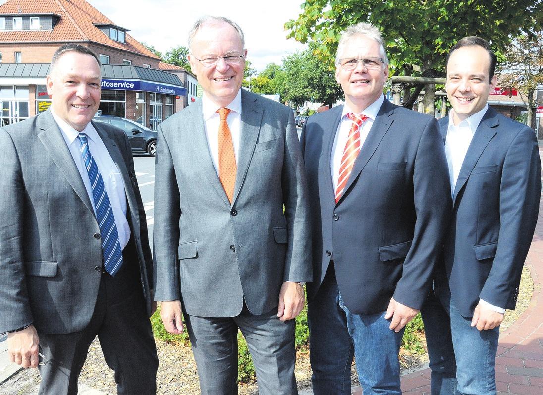 Der niedersächsische Ministerpräsident Stephan Weil besuchte mehrmals den Landkreis Celle.