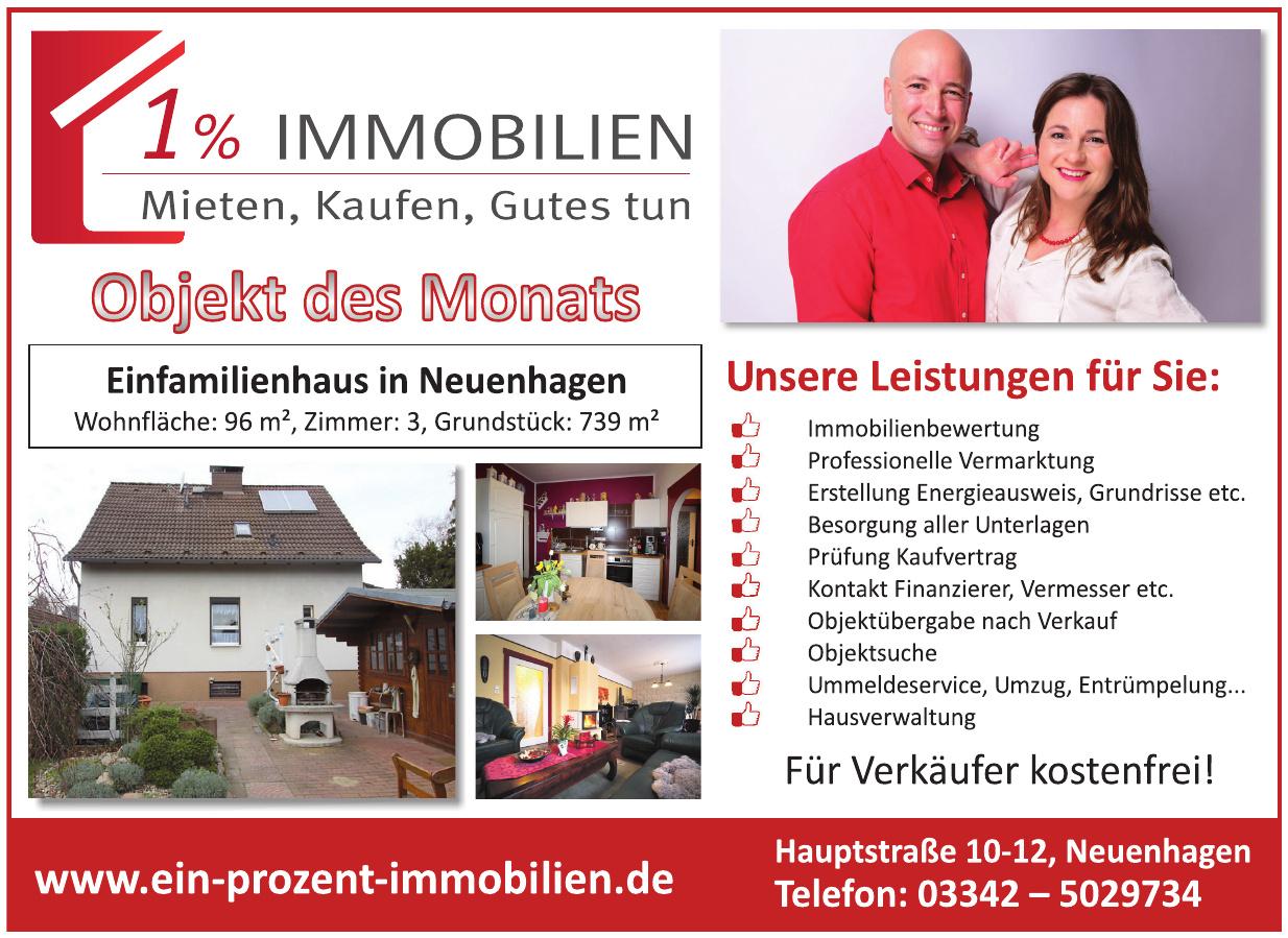 Firma 1% Immobilien