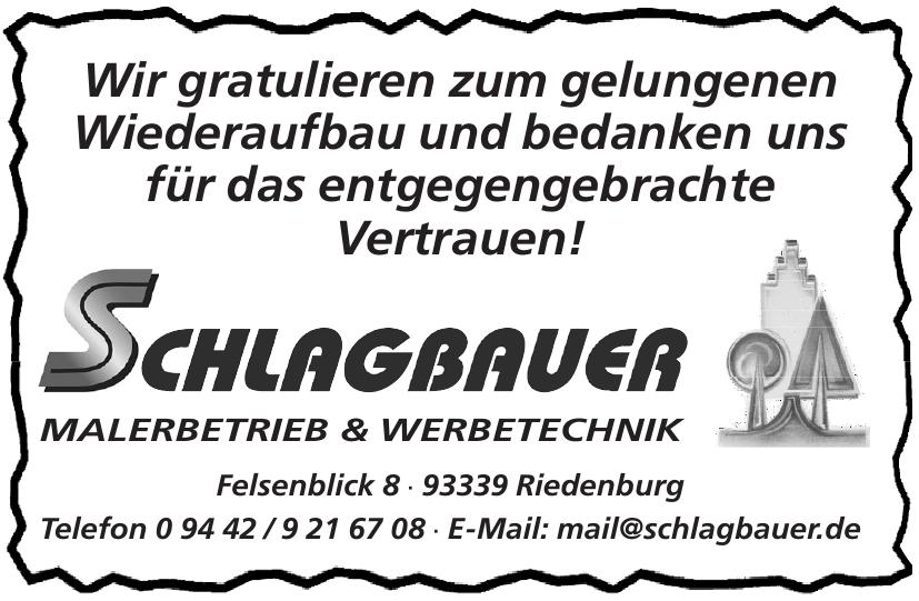 Schlagbauer Malerbetrieb und Werbetechnik