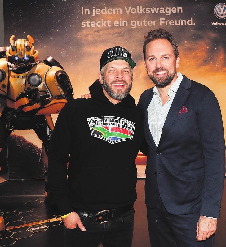 Sidney Hoffmann and Steven Gaetjen bei der VIP-Premiere. Foto: Franziska Krug/Getty Images for Volkswagen AG