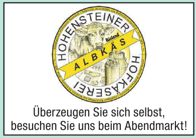 Hohensteiner Hofkäserei Bioland Albkäs
