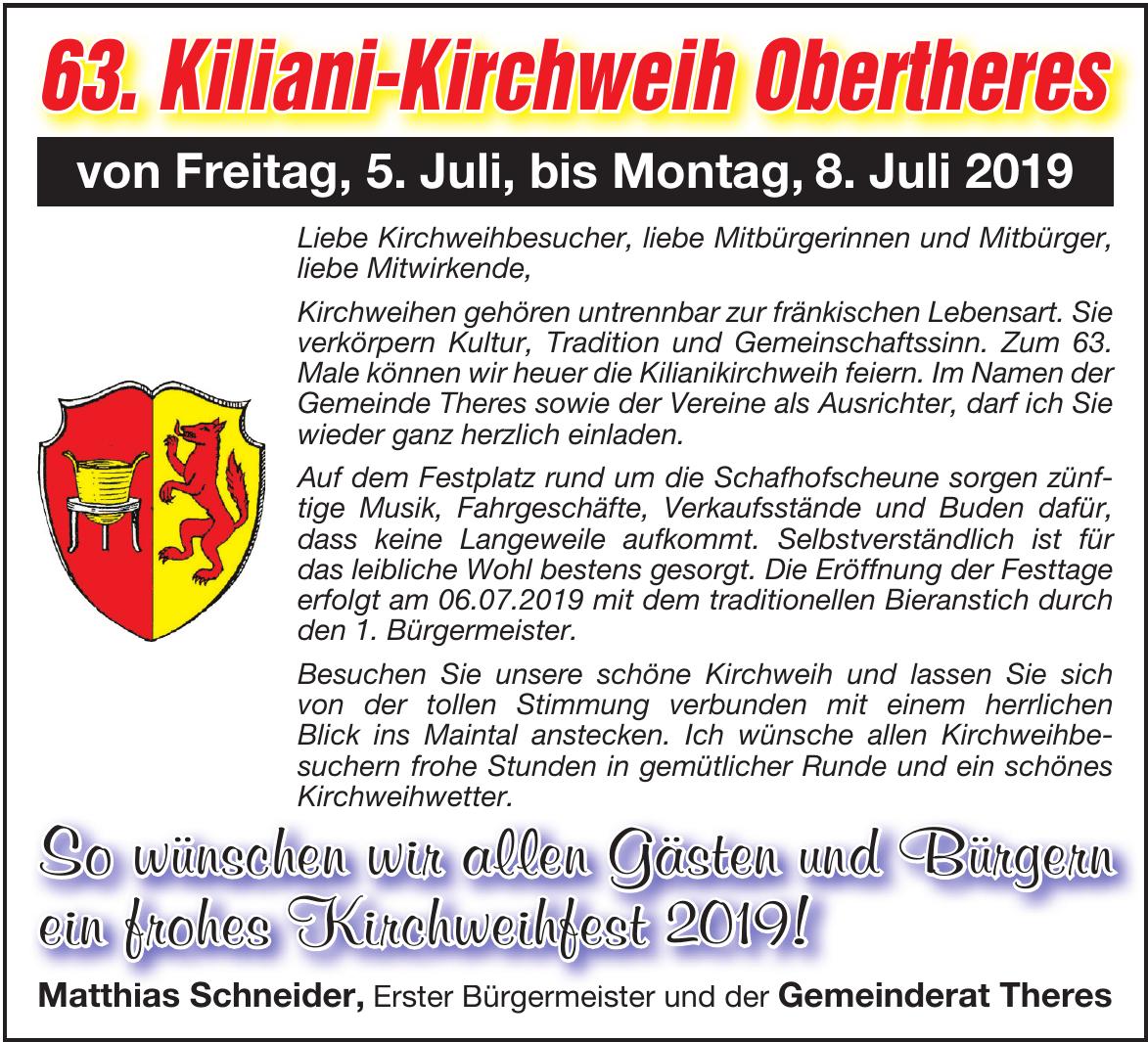 63. Kiliani-Kirchweih Obertheres