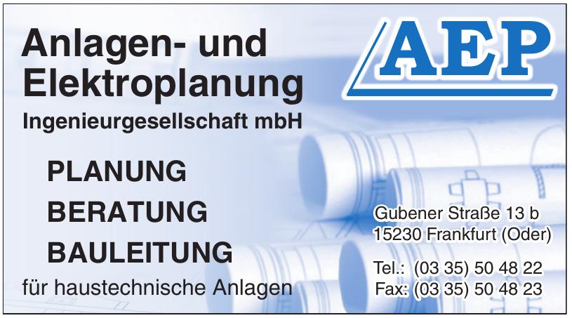 AEP - Anlagen- und Elektroplanung Ingenieurgesellschaft mbH