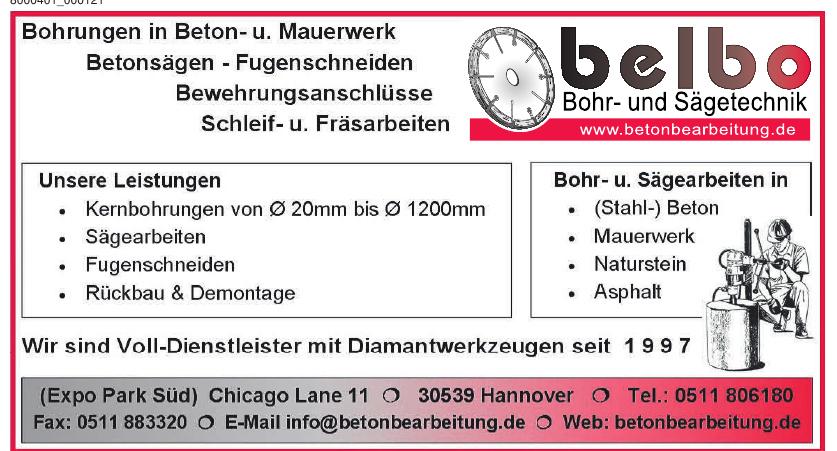 Belbo Bohr- und Sägetechnik